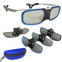 夹片主动快门式3D眼镜适用于�O米H1S/Z6�怨�J6S明基DLP投影仪