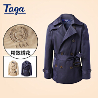 TAGA 春秋款童装男童外套中大童儿童中长款风衣