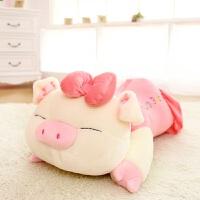 猪猪毛绒玩具大号公仔猪娃娃玩偶 趴趴猪睡觉抱枕 生日礼物女 三顺猪