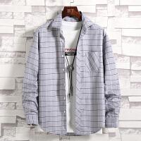 春秋男士格子衬衫长袖韩版潮流青少年学生衬衣