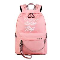 中学生书包女双肩包高中初中生女生大容量百搭校园韩版森系背包潮
