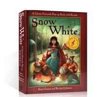 [英文原版]Snow White白雪公主/经典童话精装立体书进口童书 Fairytale Sounds 3-6岁趣味绘本读物