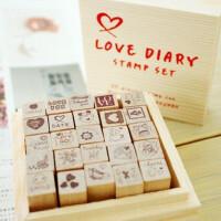 韩国FUNNYMAN实用可爱日记本装饰印章25套装LOVE DIY手工用品