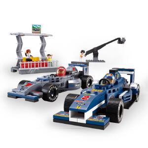 【当当自营】小鲁班F1方程式赛车系列儿童益智拼装积木玩具 F1赛车组M38-B0355