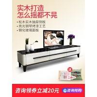 20190611155216860现代小户型卧室电视机柜墙柜简约实木客厅家具电视柜茶几组合套装 整装