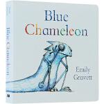 Blue Chameleon 英文原版 绘本纸板书 Emily Gravet 埃米莉?格雷维特
