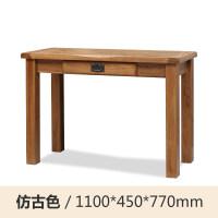 实木简约化妆桌镜凳三件套橡木欧式卧室组合家具梳妆台 组装