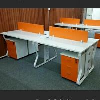 办公家具办公桌简约现代职员桌椅组合4人位电脑桌卡座员工桌