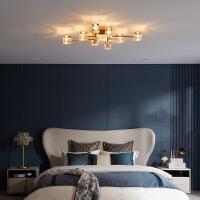 全铜水晶灯简约现代客厅灯餐厅灯具温馨浪漫卧室书房吸顶灯
