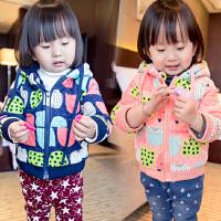 女童宝宝加绒加厚外套上衣冬装韩版童装潮2018冬季新款C796 V