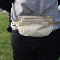 户外贴身腰包 防水隐形防盗旅行证件包多功能薄款运动手机包
