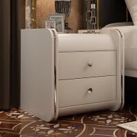 床头柜宜家家居收纳柜整装卧室储物柜皮艺床边柜旗舰家具店