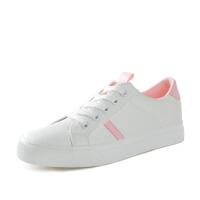 帆布鞋女 学生韩版低帮百搭基础小白鞋 平底白色板鞋女鞋子潮