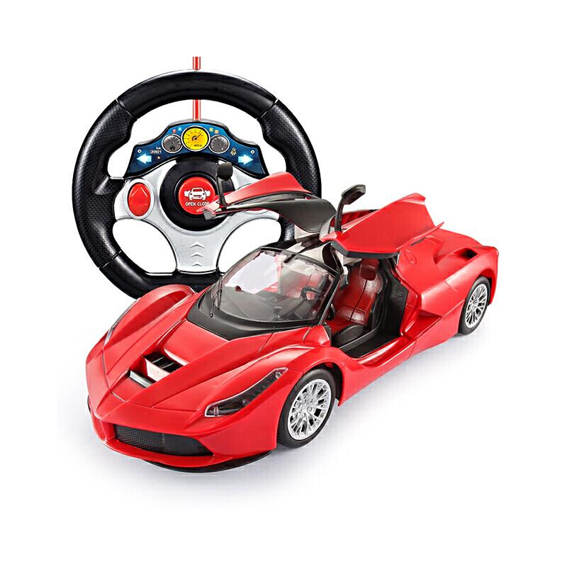 遥控车遥控汽车玩具车越野车可充电电动可一键开门节日礼物儿童男孩玩具