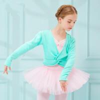儿童舞蹈加绒披肩长袖女童练功服上衣宝宝跳舞服装加厚坎肩
