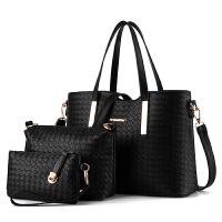 女士包包新款女包手提包简约时尚单肩包大容量包包百搭子母包 黑色