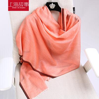 上海故事百搭新款2017羊绒女冬季保暖披肩羊绒围巾围脖多功能