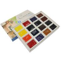 俄罗斯白夜固体水彩 艺术家36色固体水彩颜料24色学生级水彩颜料