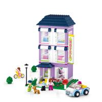 【当当自营】小鲁班新粉色梦想小镇女孩系列儿童益智拼装积木玩具 青年旅馆M38-B0531