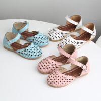 夏季编织包头软底女童凉鞋公主鞋镂空宝宝鞋儿童鞋子