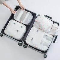 旅行出差用品防水收纳化妆男收纳袋旅游洗漱女便携6件套装 白色 火烈鸟新款