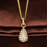 施华洛世奇HELOISE金色镶钻雨滴水晶项链1023993