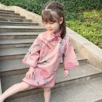 女童春季旗袍中小童中国风文艺连衣裙宝宝唐装儿童礼服