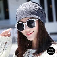 帽子女韩版潮套头帽堆堆帽薄睡帽包头帽月子帽帽子女韩版