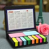创意 N次贴礼物便签盒便利贴彩色八箭头皮盒便签条彩条环保纸