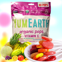 亚美滋 美国进口Yummy Earth水果味棒棒糖40支 亚米8种混装口味