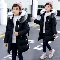 女童棉衣中长款韩版秋冬季女孩棉袄洋气冬装外套