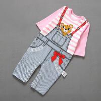 婴儿连体衣服棉宝宝装新生儿哈衣季03个月长袖装5新年