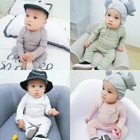 婴儿套装0岁5个月宝宝休闲洋气衣服男童女童运动潮款春秋装