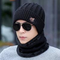 男士围脖套帽加厚包头帽骑车帽子男保暖毛线帽针织套头帽
