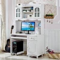 田园地中海电脑桌台式家用书桌书架组合70cm80厘米学习写字桌