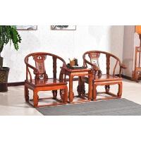 明清仿古家具单人太师椅圈椅官帽椅皇宫椅三件套坐垫榆木实木中式