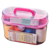 针线盒 户外旅行便携缝补工具大线卷收纳盒家用针线缝纫工具10件套 均码