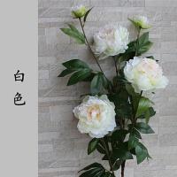 鸥式仿真花 大牡丹花假花仿真花绢花客厅摆件落地欧式摆件装饰花摆设干花