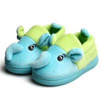 棉拖鞋包跟软面大象防滑橡胶底学步鞋小童中童冬宝宝鞋棉鞋