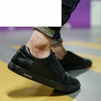 潮牌英伦风男鞋休闲鞋韩版潮商务皮鞋青年板鞋时尚百搭低帮布洛克男鞋