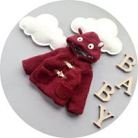 男宝宝冬装羊毛羔外套冬加厚儿童羊角扣棉袄婴儿棉衣冬季1-2岁潮