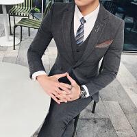 20180527092420657品质男士西装套装三件套绅士英伦风新郎礼服
