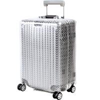 男女式透明超厚 拉杆箱套保护套防雨耐磨行李箱套防尘罩防水 乳白色 透明波纹20寸