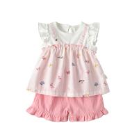 宝宝夏天套装女小童夏季短袖两件套洋气时尚婴儿夏装