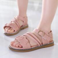 女童凉鞋童鞋夏季儿童公主鞋中大童女孩学生软底沙滩鞋潮