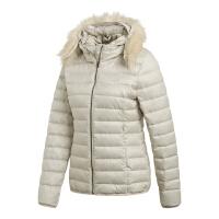 adidas阿迪达斯2018新款女子保暖防风连帽外套羽绒服DP8583