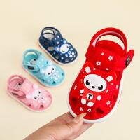 宝宝布凉鞋男夏0-1-2-3岁叫叫学步鞋女婴儿鞋公主鞋子软底春