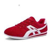 男鞋 跑步鞋男款 运动鞋 秋季新款布面复古跑鞋男轻质慢跑鞋子 休闲鞋旅游鞋