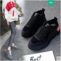 鞋子女冬季新款韩版厚底休闲运动百搭山本风学生松糕跟板鞋潮
