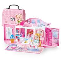 仿真洋娃娃女孩萌宝芭比玩具公主屋套装梦想大礼盒豪宅别墅房子